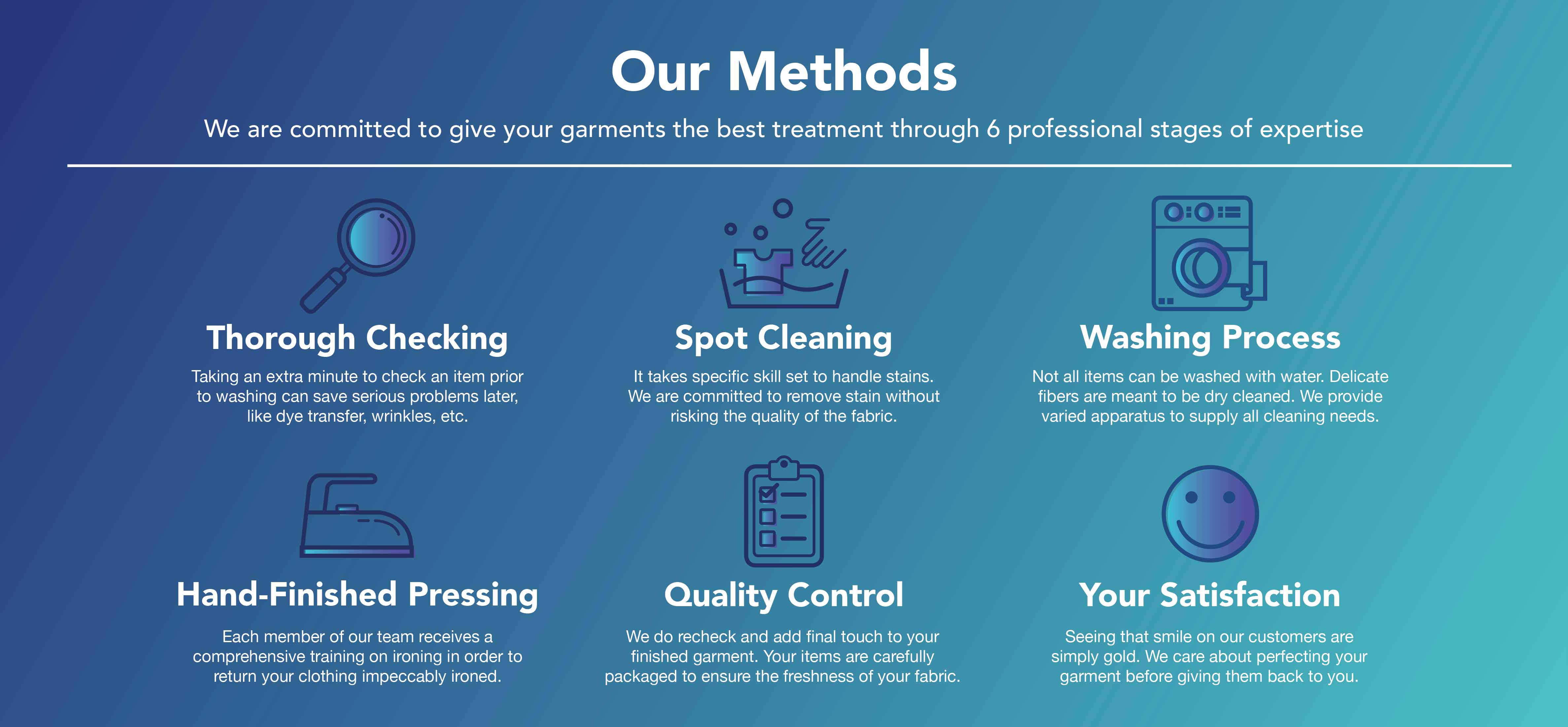 Quality Ensured. Quality is the most fundamental part that defines the outcome of a laundry process. We can ensure you that our water is purified and profen safe for health and the environment.